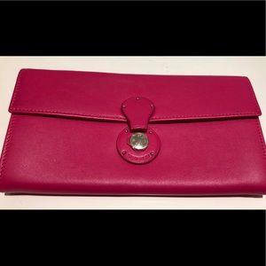 NWT Pink Ralph Lauren Ricky Continental Wallet